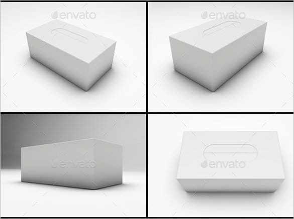 disposable tissue box psd template