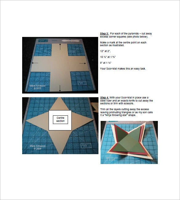 how to make pyramid box template
