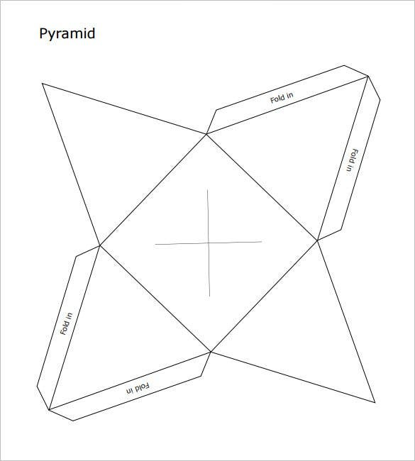 picture regarding Printable Pyramid called Pyramid Box Template - 15+ Cost-free Pattern, Illustration, Layout