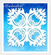 Frozen-Snowflake-Mashmallow-Pattern
