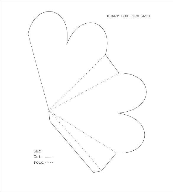 Heart Box Template   Free Sample Example Format Download