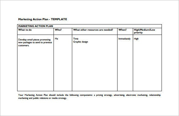 marketing action plan templates - Ronni kaptanband co