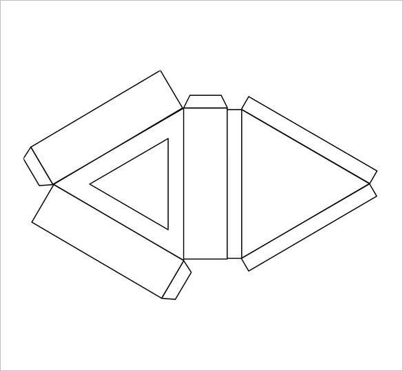 free triangle box template