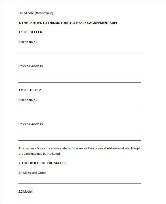 Bill Of Sale Printable Free  PetitComingoutpolyCo