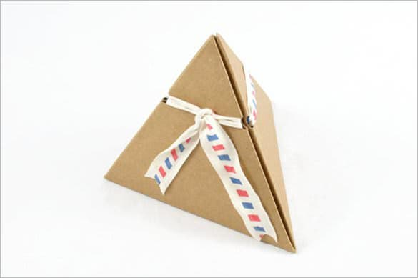 triangle paper box