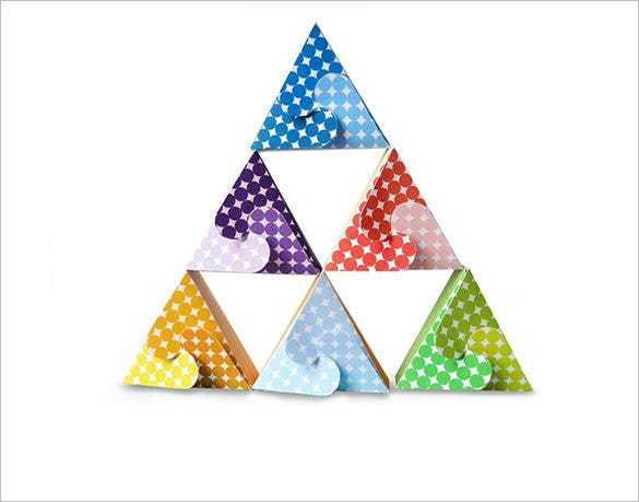 triangle gift box pattern