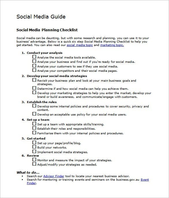 example of a social media marketing action plan