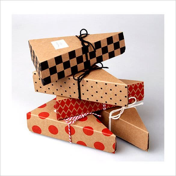 triangle paper gift box