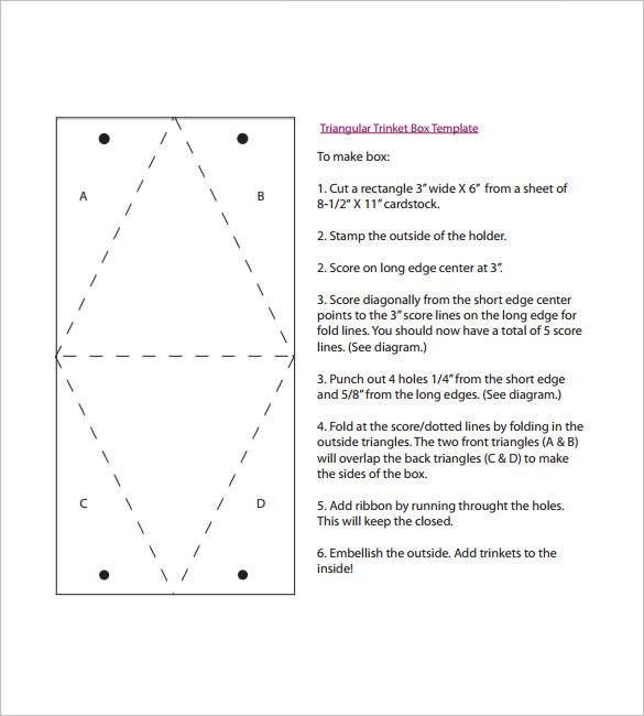 Triangle Box Template – 15+ Free Sample, Example, Format Download ...