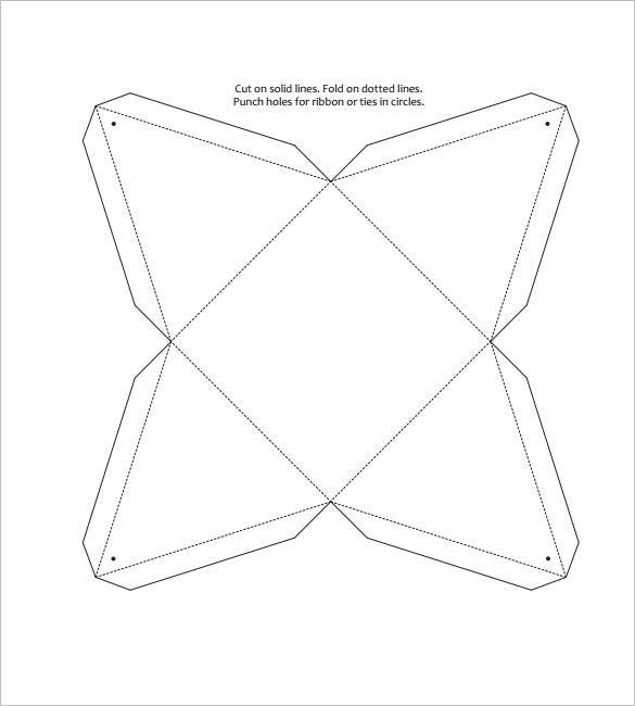 triangle box template