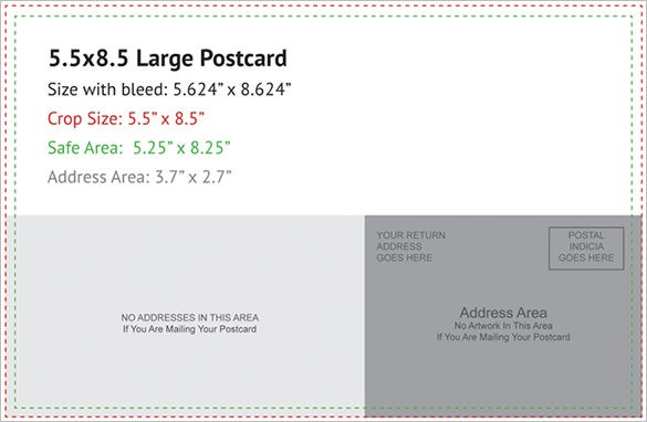 Postcard template 47 free printable word excel pdf for Indesign postcard template 4x6