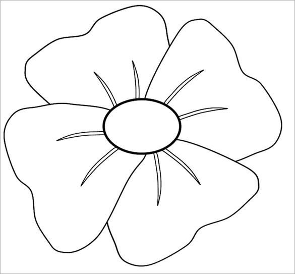 Poppy Day Colouring Page For Free
