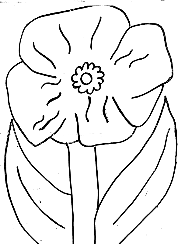 graphic relating to Poppy Printable called 18+ Poppy Coloring Web pages - PDF, JPG Absolutely free Top quality Templates