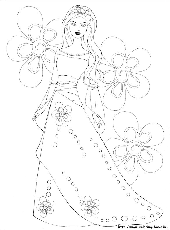 20 barbie coloring pages doc pdf png jpeg eps for Barbie dress up coloring pages