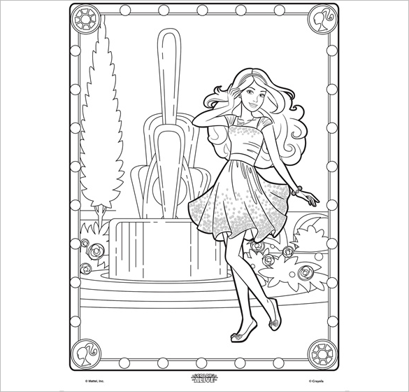 Fantastic Barbie Colouring Page For Free