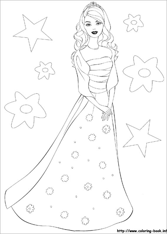free printable fabulous coloring page - Barbie Coloring Book