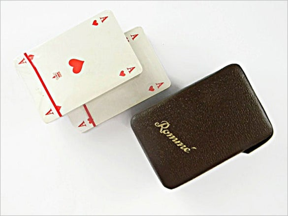 old vintage playing card set