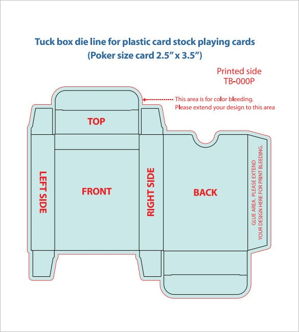 20 playing card box templates free sample example