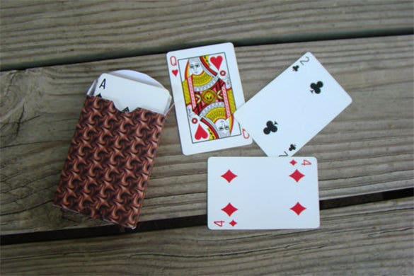 printable playing card