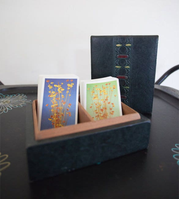 box and deck of playing cards