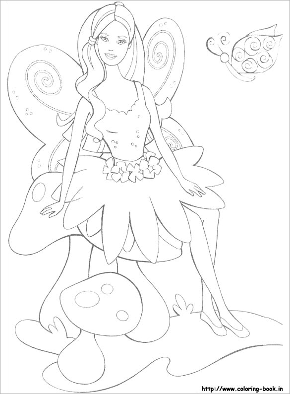 wonderful barbie coloring page for free
