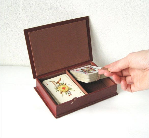 leather box for playing cards