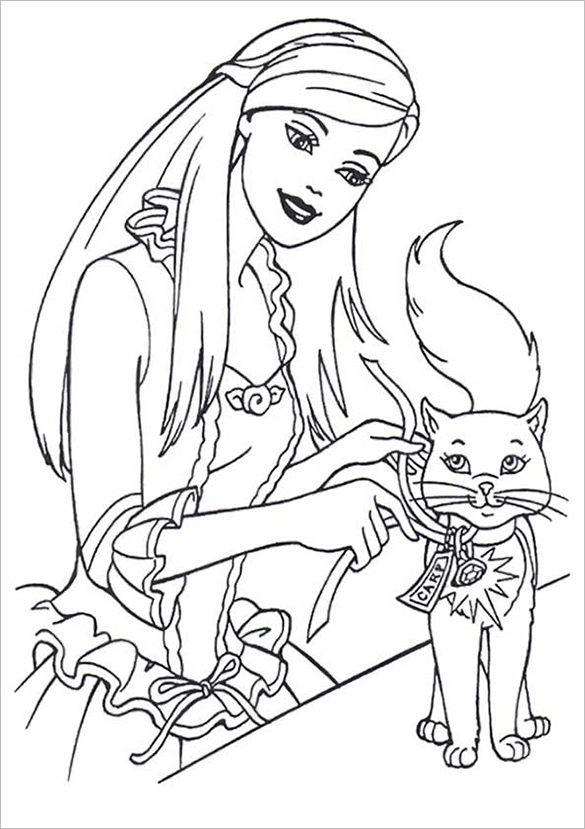 outrageous barbie coloring page for you