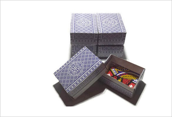 handmade playing card boxes