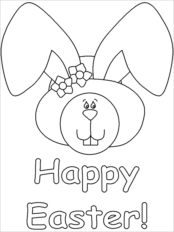 image relating to Easter Bunny Coloring Pages Printable called 21+ Easter Coloring Web pages - No cost Printable Term, PDF, PNG