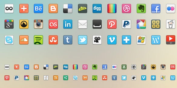 41 social media icons for free download