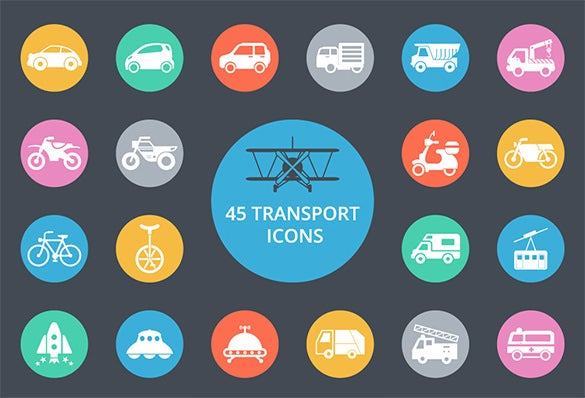 best 45 transport icons for free download