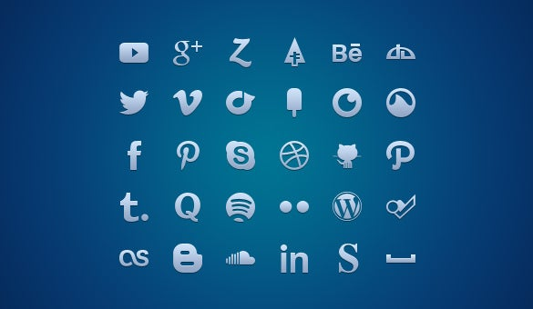 30 best social media icons free download