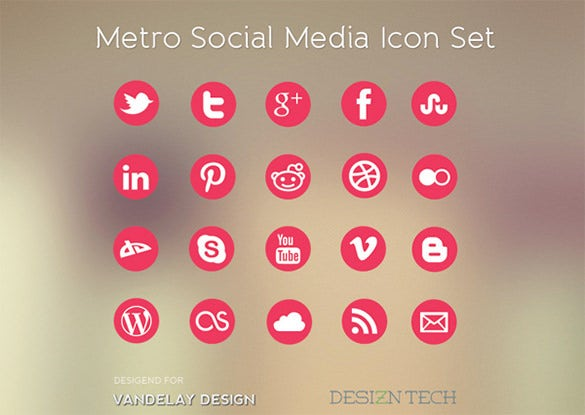 30 best social media icon set for free