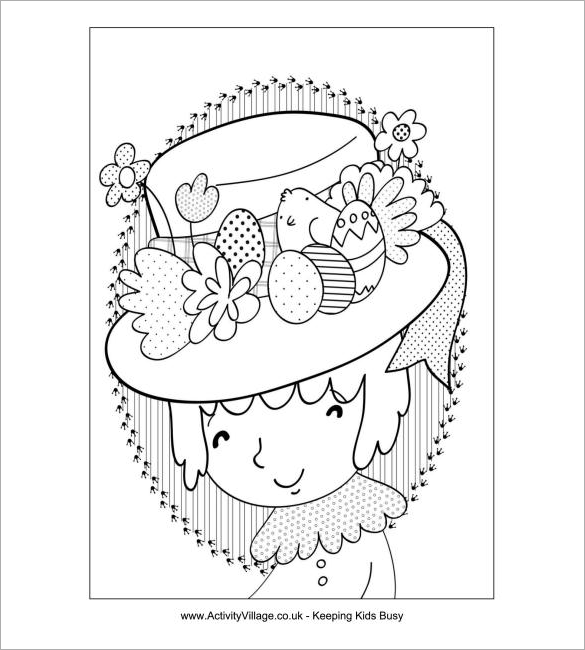 Blue Bonnet | Coloring Pages Easter - Coloring Home | 650x585