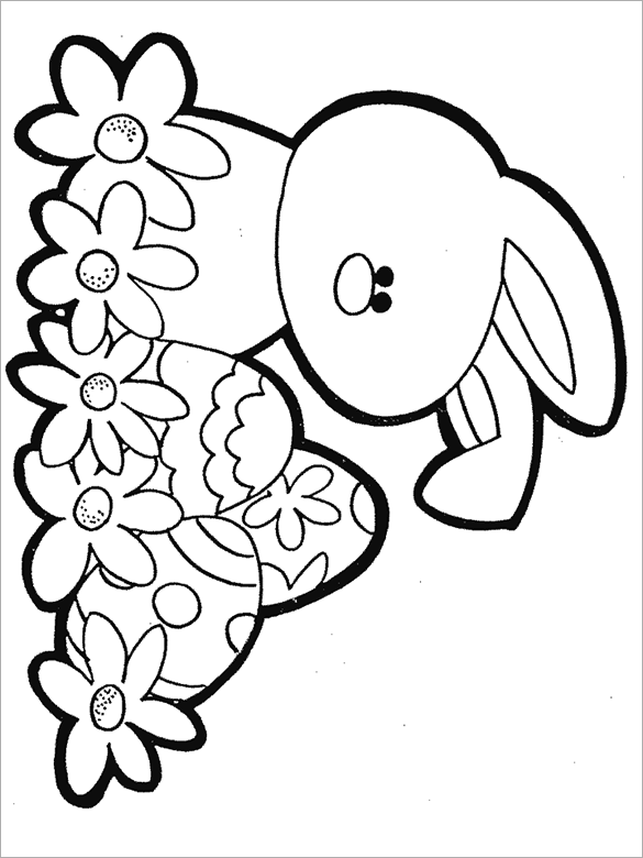 Free Easter Coloring Book Download : Hello kitty easter coloring pages beautiful #2900
