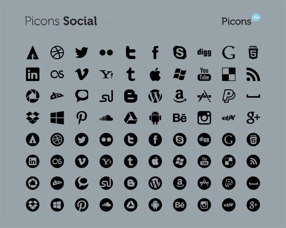 72 best picons social bundle for free download