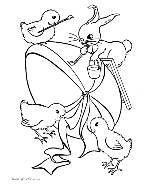 Free Easter Coloring Book Download : Download free easter egg coloring book