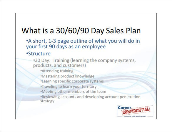 Sales action plan template 12 free sample example for 30 60 90 action plan examples template