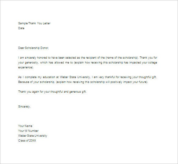 Thank You Letter   Free Word Excel Pdf Psd Format Download