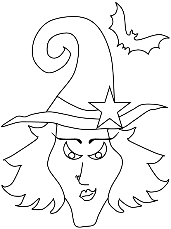 20 halloween coloring pages pdf png free premium for Halloween print out coloring pages