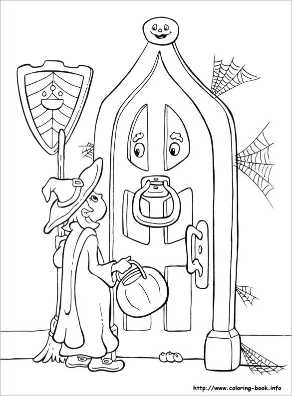 Awesome Halloween Coloring Page Free Printable