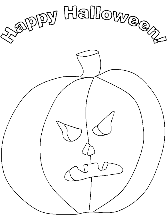20+ Halloween Coloring Pages - PDF, PNG Free & Premium Templates