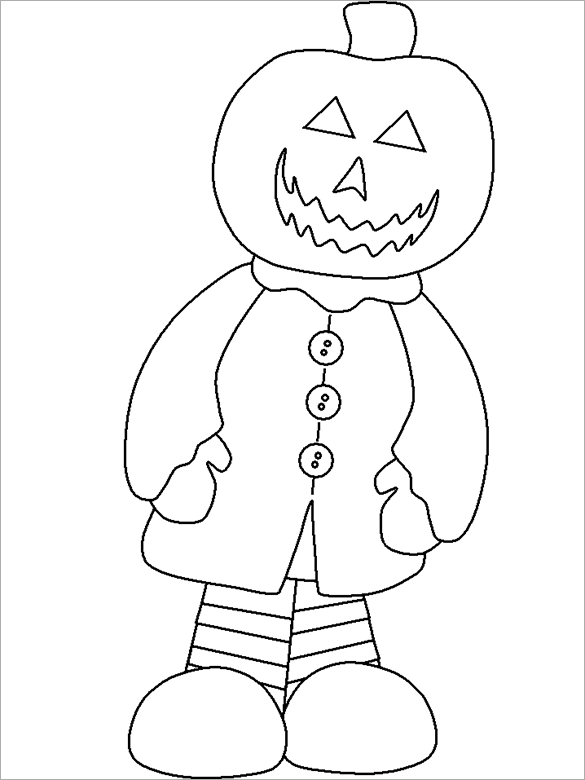 jack o lanterns halloween coloring page