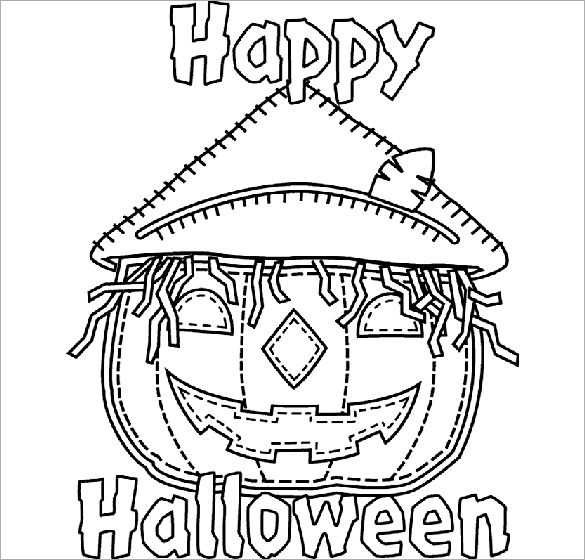 Halloween Coloring Pages  Free Printable Word Pdf Png Jpeg