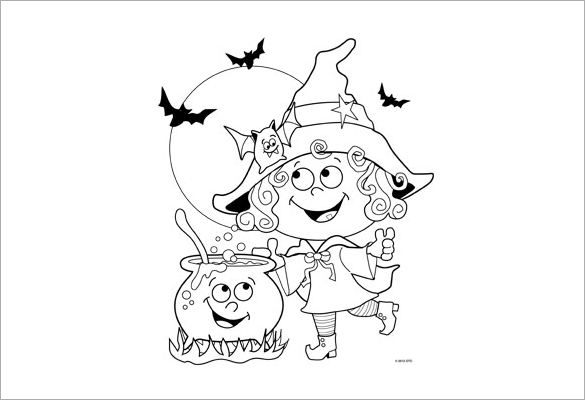 Coloring Pages For Halloween Witches : 21 halloween coloring pages free printable word pdf png jpeg