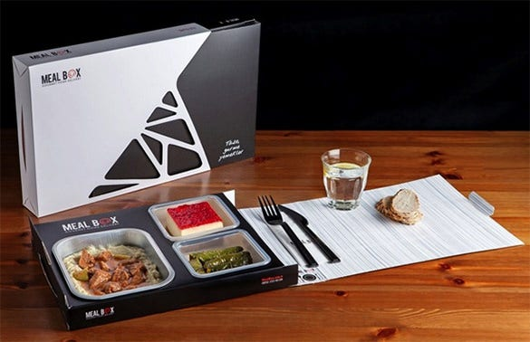premium home delivery meal box template