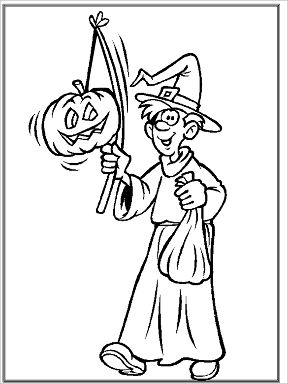 best printable halloween coloring page for free coloringws - Coloring Ws Coloring Pages