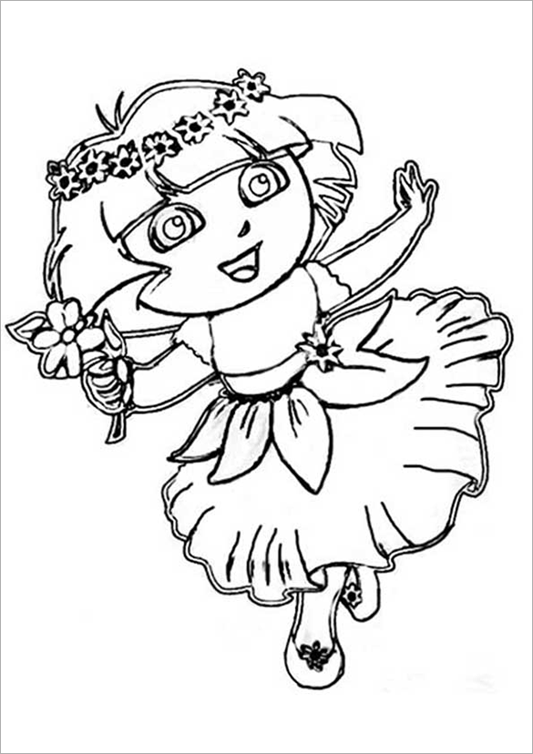 20 dora coloring pages pdf png jpeg eps free for Dora the explorer coloring pages printable