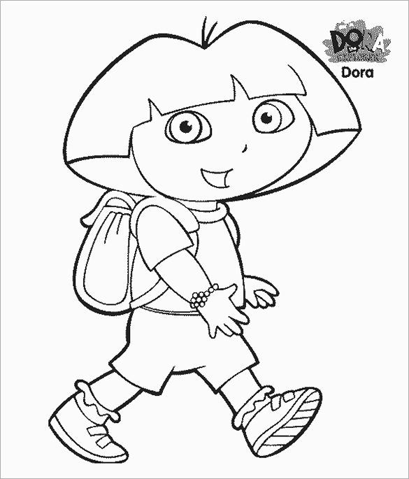 picture about Dora Printable Coloring Pages known as 19+ Dora Coloring Internet pages PDF, PNG, JPEG, EPS Totally free