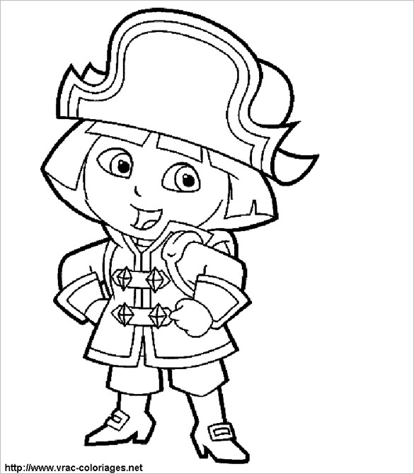 Dora The Explorer Coloring Page Free Printable Dora The The Explorer Coloring Pages To Print